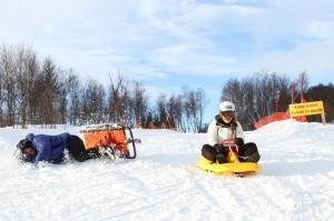 X-Camp instruktør og deltaker i en uheldig innspurt til mål på Fearless Winter
